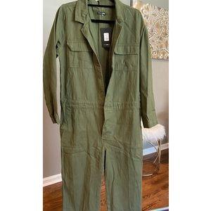Fashion Nova Olive Green Utility Suit